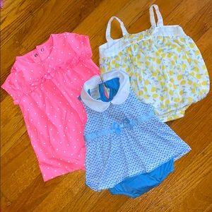 Baby Girl 3pc Summer Bundle 6-9m